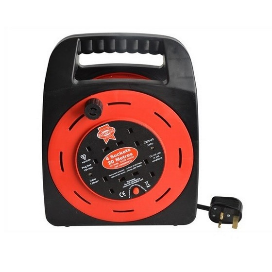 Image of FAITHFULL FPPCR20MER CABLE REEL 230V 20M 13A 4 SOCKET TCO