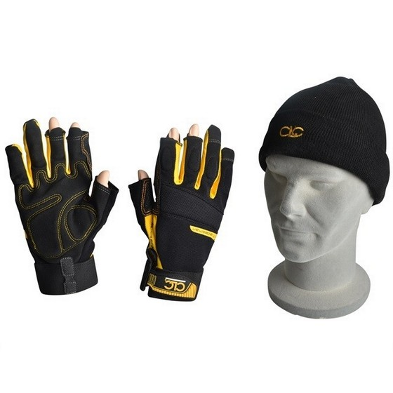 Image of Kunys Clc Fingerless Work Gloves And Beanie Hat