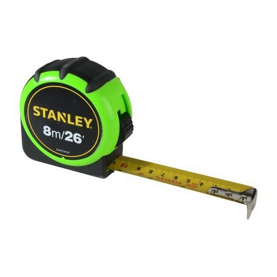 Image of STANLEY HIVIS TAPE MEASURE 8M 26FT