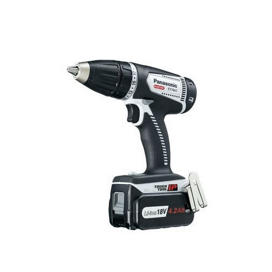 PANASONIC 18v DUAL VOLTAGE DRILL DRIVER 2 x 18V 4.2ah Li-ion BATTERIES