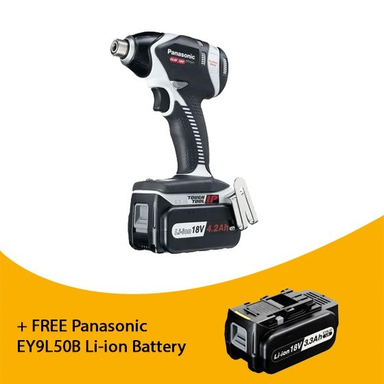 Image of PANASONIC EY75A2LS2G31 18V DUAL VOLTAGE IMPACT WRENCH 2 X 18V 42AH LIION BATTERIES