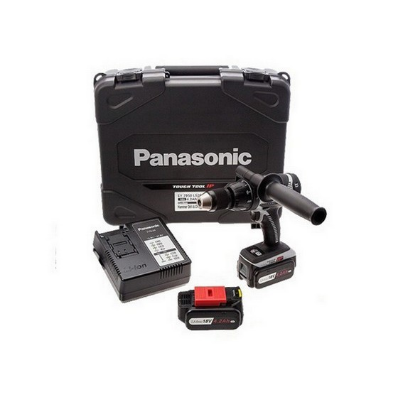 Image of Panasonic Ey7950ls2s31 18v Combi Hammer Drill 2 X 42ah Liion Batteries