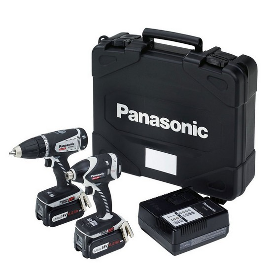 PANASONIC 18V DUAL VOLTAGE DRILL DRIVER & IMPACT DRIVER TWIN PACK 3 X 18V 4.2AH LI-ION BATTERIES (SPECIAL EDITION)