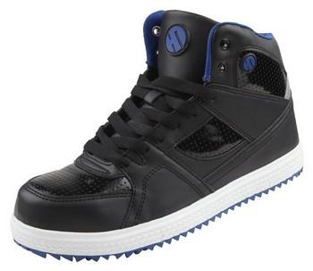Image of LEE COOPER HTBT005 HIGHTOP SAFETY BOOTS BLACK Size 8