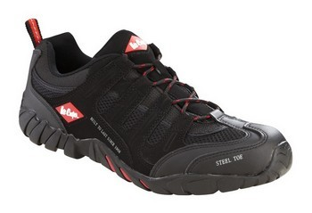 LEE COOPER LCSHOE008 SAFETY TRAINERS BLACK