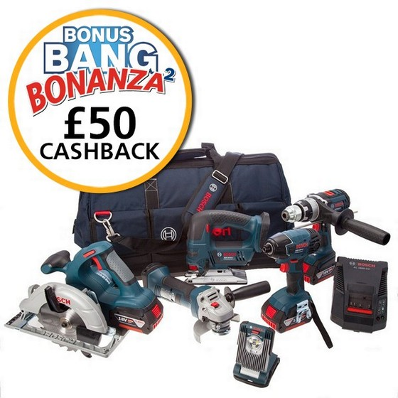 BOSCH 0615990G8J 18V 6 PIECE KIT + 3X 4.0AH LI-ION BATTERIES + TOOL BAG