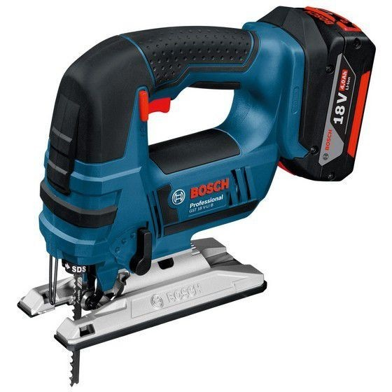 Image of Bosch Gst18vlib 18v Jigsaw With 2x40ah Liion Batteries In Lboxx