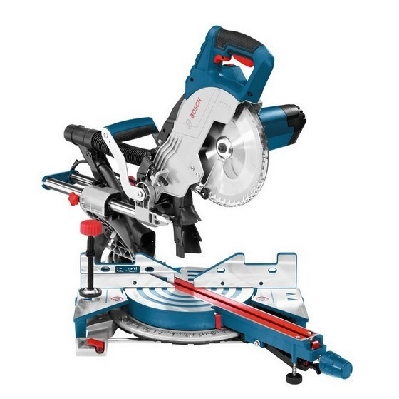 Image of BOSCH GCM8SJL 216MM SINGLE BEVEL SLIDING MITRE SAW 110V