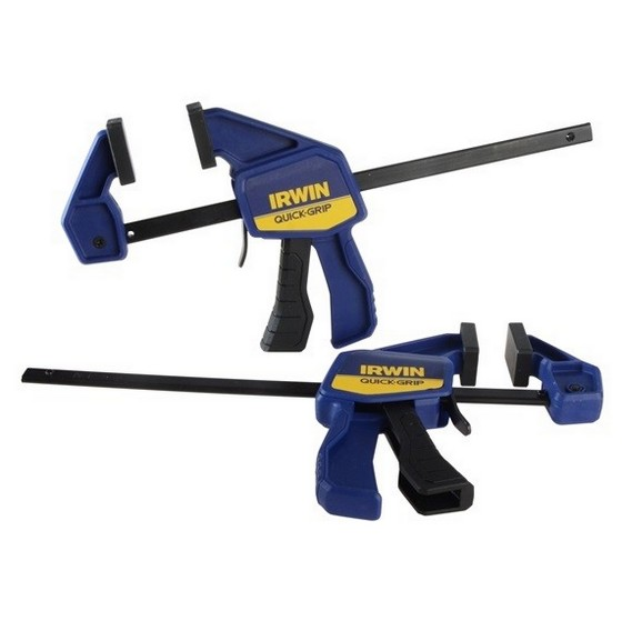 Image of IRWIN QG5462QC TWIN PACK OF ONE HANDED CLAMPS 6 INCH