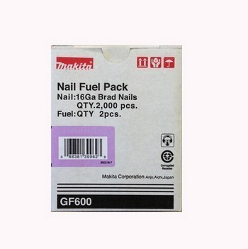 Image of MAKITA 1956686 PACK OF 2000 BRAD NAILS AND FUEL PACK 19MM