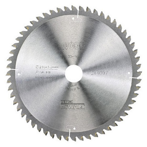 Image of DEWALT DT4097QZ SERIES 40 EXTRA FINE FINISH CIRCULAR SAW BLADE 235MM X 30MM X 56T