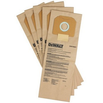 DEWALT DWV9401-XJ PACK OF 5 PAPER BAGS FOR DWV902M