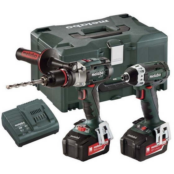 Image of METABO COMBO SET 215 18V LXT TWIN PACK WITH 2X 52AH LIION BATTERIES