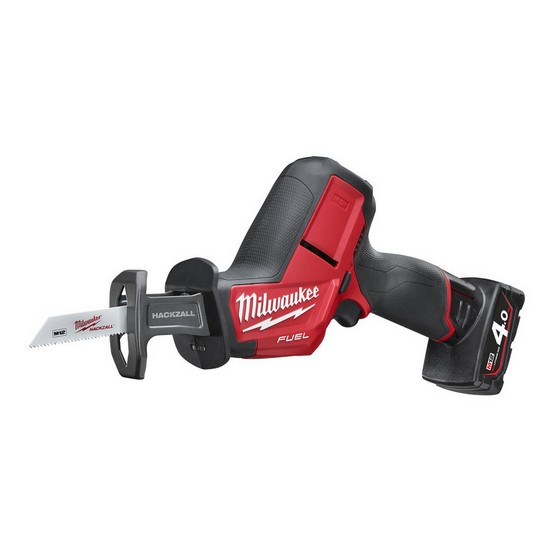 MILWAUKEE M12CHZ-402C 12V BRUSHLESS HACKZALL WITH 2X4.0AH LI-ION BATTERIES