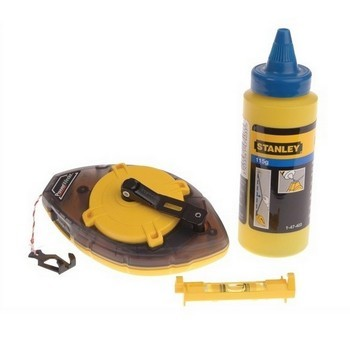STANLEY STA047465 POWER WINDER CHALK LINE AND LEVEL