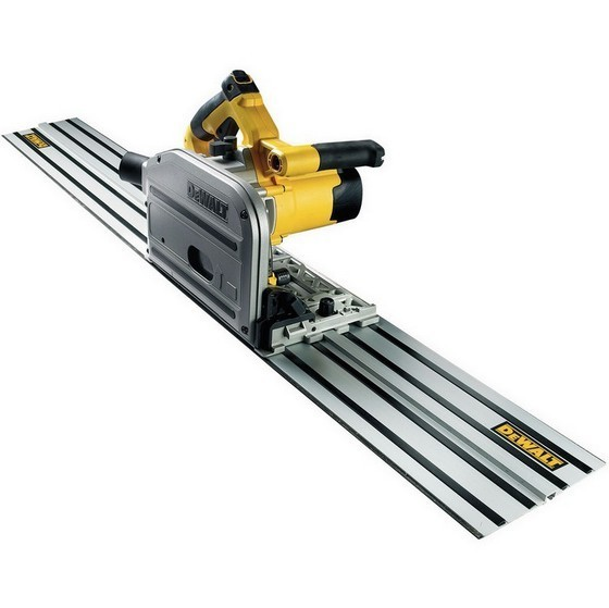 Image of DEWALT DWS520KT 110V PLUNGE SAW WITH 15M GUIDE RAIL