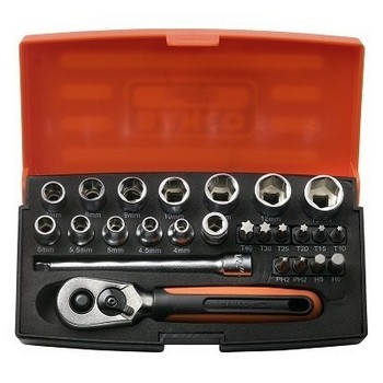Image of BAHCO SL25 SOCKET SET 25 PIECE 14 INCH