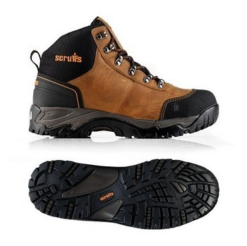 Image of Scruffs Assault Leather Hiker Safety Boots Size 7