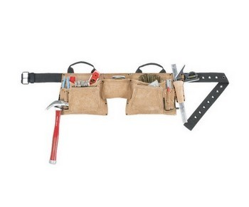 KUNY'S AP527 HEAVY DUTY LEATHER WORK APRON 12 POCKET