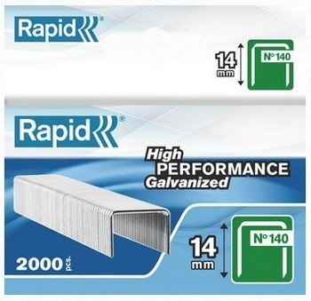 RAPID 14014 GALVANISED STAPLES BOX OF 2000