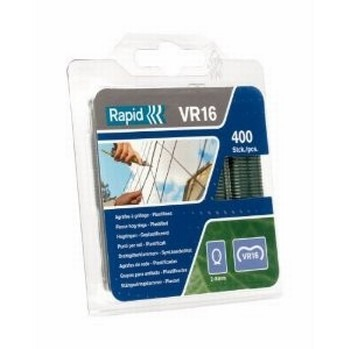 RAPID VR16 GREEN FENCE HOG RINGS 400