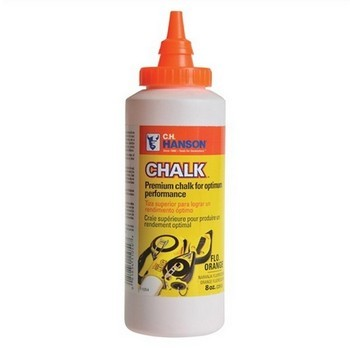 HANSON CHALK REFILL 8OZ YELLOW