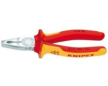 Image of KNIPEX KPX0306160 COMBINATION PLIERS 160MM VDE