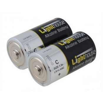 LIGHTHOUSE LR14 ALKALINE C BATTERIES X2