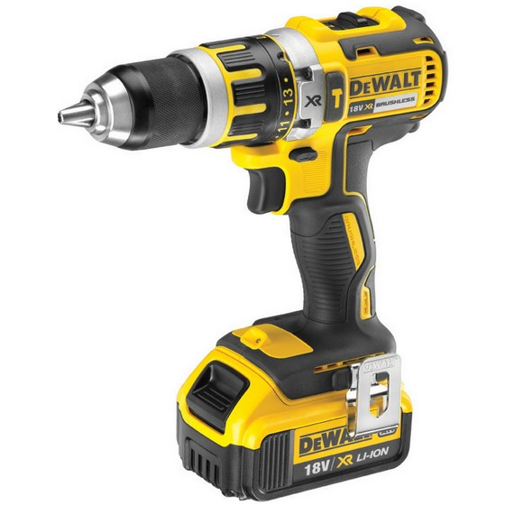 Image of DEWALT DCD795M1 18V XR BRUSHLESS COMPACT COMBI DRILL WITH 40AH LIION BATTERY