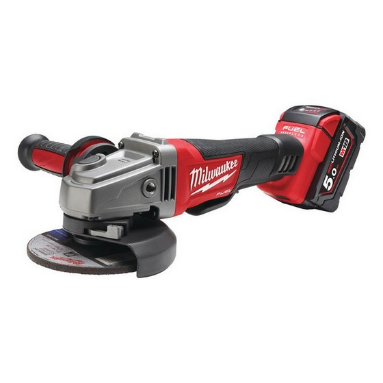 Image of MILWAUKEE M18CAG115XPD502C 18V BRUSHLESS ANGLE GRINDER 2X 50AH LIION BATTERIES
