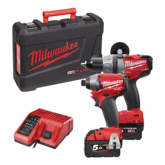 MILWAUKEE M18 PP2A-502 18V BRUSHLESS TWIN PACK WITH 2X 5.0AH LI-ION BATTERIES