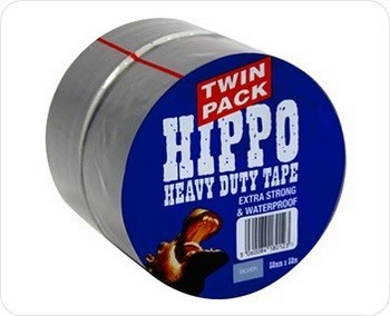 Image of TEMBE HIPPO SILVER HEAVY DUTY TAPE TWIN PACK