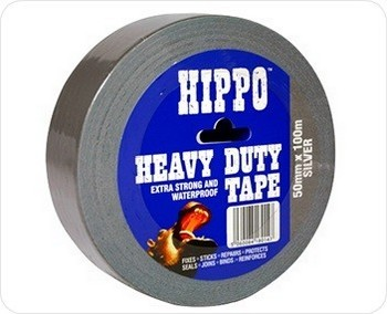 Image of TEMBE HIPPO SILVER HEAVY DUTY TAPE 50M