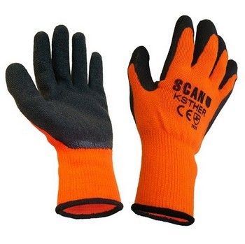 SCAN KNITSHELL THERMAL GLOVES ORANGE/BLACK
