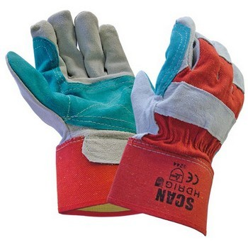 SCAN RIGGER GLOVES LEATHER HEAVY DUTY