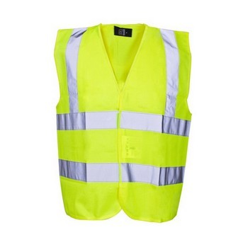 SCAN HI-VIS WAISTCOAT YELLOW (SIZE: CHILD 7-9)