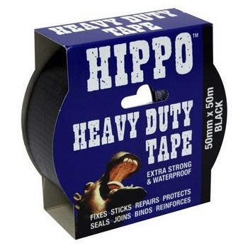Image of TEMBE HIPPO BLACK HEAVY DUTY TAPE 50M