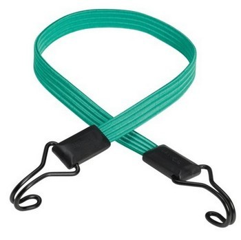 MASTER LOCK FLAT BUNGEE 80CM GREEN WITH DOUBLE STRAIGHT HOOK