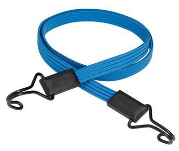 MASTER LOCK FLAT BUNGEE 120CM BLUE WITH DOUBLE STRAIGHT HOOK