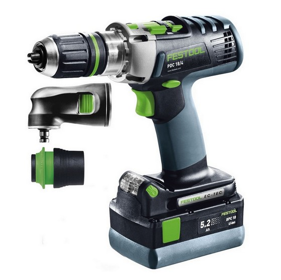 FESTOOL 564581 18V PERCUSSION DRILL WITH 2X 5.2AH LI-ION BATTERY