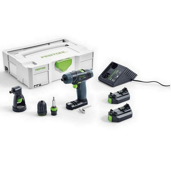 Image of FESTOOL 564512 TXS DRILL DRIVER WITH 2X 26AH LIION BATTERIES