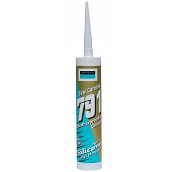 GEOCEL 4024912 791 WEATHERPROOFING SILICONE SEALANT 310ML WHITE