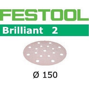 FESTOOL 496586 STF D150/16 PACK OF 50 BRILLIANT 2 SANDING DISCS P60 GRIT 150MM
