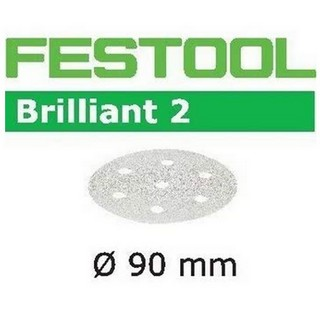 FESTOOL 497383 PACK OF 100 BRILLIANT 2 SANDING DISCS P120 GRIT 90MM