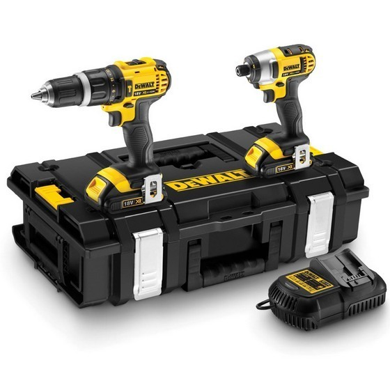DEWALT DCK285C2 18V XR COMBI DRILL AND IMPACT DRIVER TWINPACK WITH 2X 1.5AH LI-ION BATTERIES