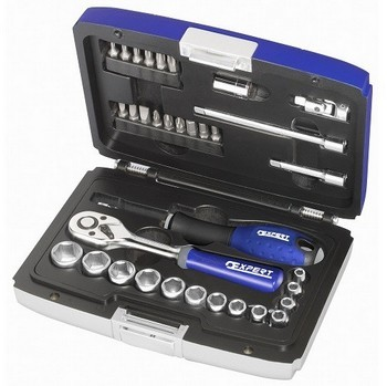 Image of BRITOOL EXPERT E194672 34 PIECE 14IN SOCKET SET