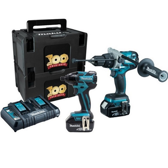 MAKITA DLX2040SPE 18V BRUSHLESS TWIN PACK 2 X 5.0AH LI-ION BATTERIES & DUAL CHARGER