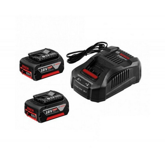 BOSCH GBA 18V 6.0AH 2X LI-ION BATTERIES WITH GAL 3608 CHARGER