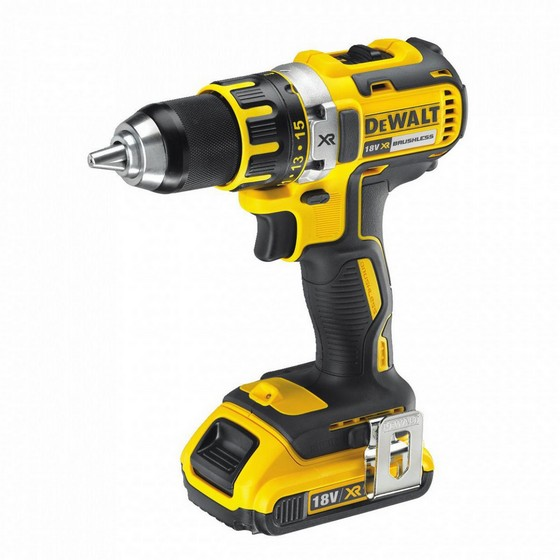 DEWALT DCD790D2-GB 18V XR COMPACT BRUSHLESS DRILL DRIVER WITH 2X 2.0AH LI-ION BATTERIES