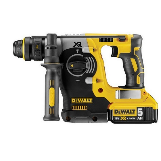 Image of Dewalt Dch274p2gb 18v Xr Brushless Sds Hammer Drill With 2x 50ah Liion Batteries